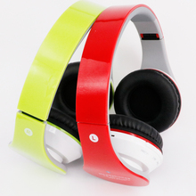 Wireless foldable Bluetooth Headset Stereo Glowing Headphones Mic Earphone big auriculares For IOS Andorid Smart Phone Computer