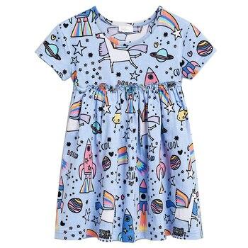 806c8517a554 Bebé niñas vestido de verano 2019 marca 100% de algodón vestido de princesa para  niña ropa de niños Vestidos ropa niños Vestidos