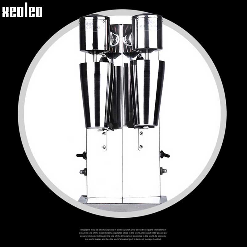 Image 5 - Xeoleo Milkshake machine Stainless Steel Milk Shake Machine Double Head Drink mixer Make Milks Foam/Milkshake Bubble Tea Machine-in Blenders from Home Appliances