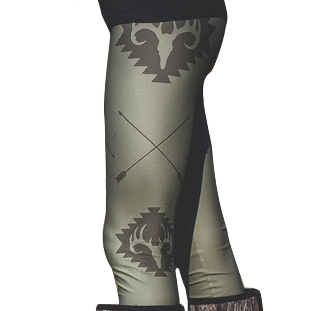 2017 Komen Vrouwen Herfst Winter Warm Stretchy Leggings Fashion Gedrukt Casual Skinny Leggings Broek Legergroen Plus Size Nieuw (In) Ontwerp;