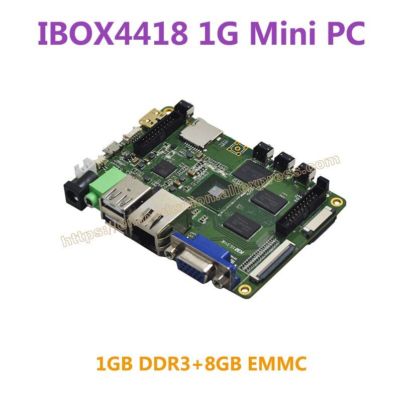 Ibox4418 Мини-ПК s5p4418 ARM Cortex-A9 4 ядра 1 ГБ DDR3 8 ГБ EMMC Плата прототипирования Мини-ПК