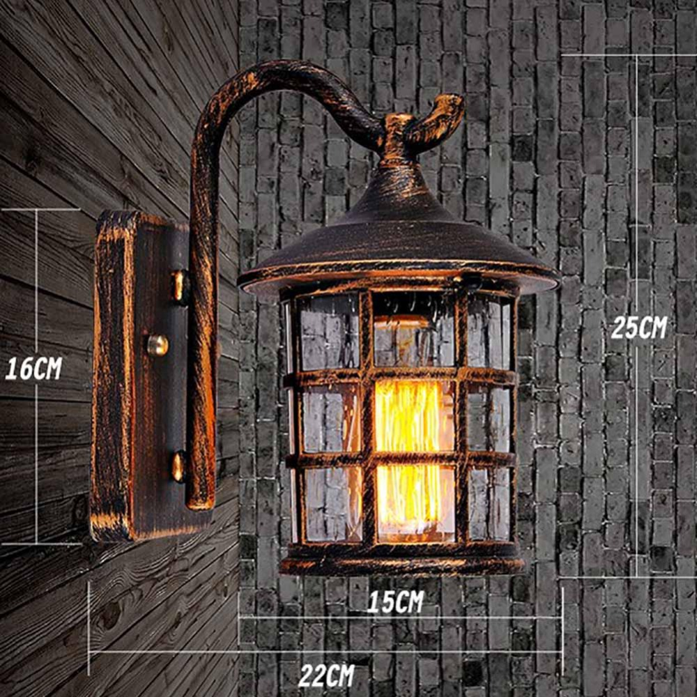 Wall lamp vintage plated industrial wall lamp retro loft LED wall light stairs bathroom - 2