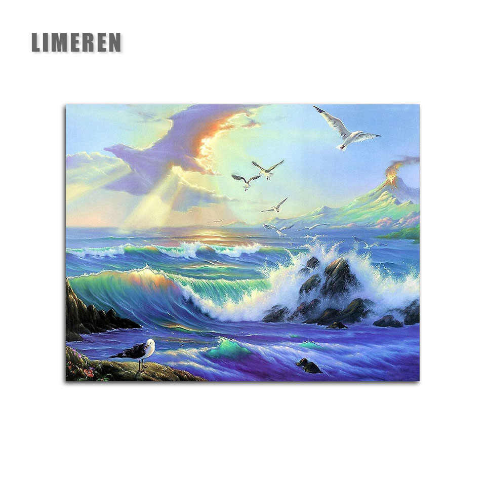 Frameless Seascape Eagle Sky Painting By Numbers Eagles Acrylic Paints Frameless
