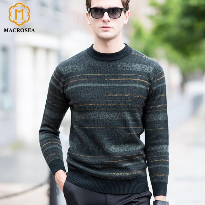 Coodrony Men Sweater Cashmere Pullover 2018 Winter