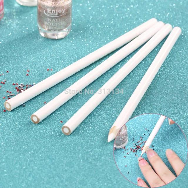 4pcs/set Nail Art Rhinestones Gems Picking Crystal Tool Wax Pencil ...