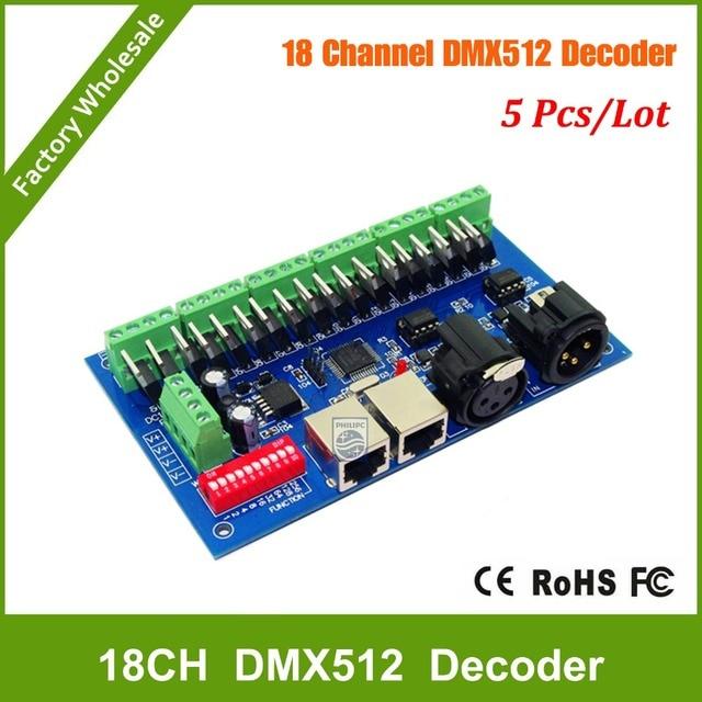 DHL Free shipping 5PCS 18CH RGB DMX512 Controller, dmx 512 dimmer ...