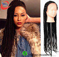 Black women hair African american braided wigs synthetic wig braided front lace hair wigs synthetic  lace front  box braids wig