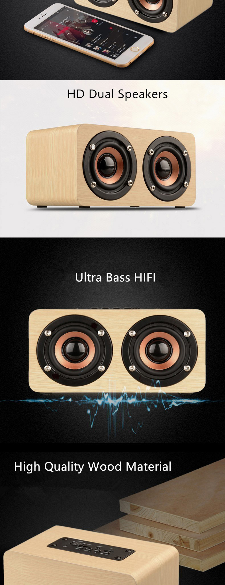 Wood Bluetooth Speaker (3)