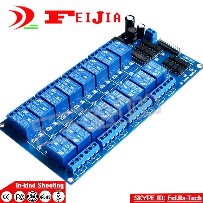 12V 16 Channel Relay Module for Ard uino DSP AVR PIC ARM UNO MEGA 2560 R3 ATMEL ATMEGA 1280 (Blue) Free Shipping