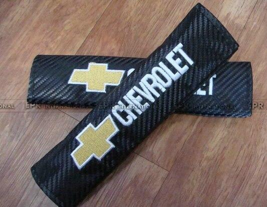 Для Chevrolet Углерода Ремень безопасности Обложка Универсальный JDM Автомобилей для укладки