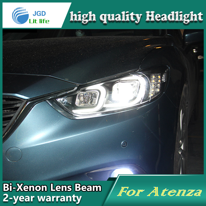 Car Styling Head Lamp case for Mazda 6 Atenza 2014 2015 Headlights LED Headlight DRL Lens Double Beam Bi-Xenon HID mazda6 подушка therm a rest compressible xl зеленый xl 42х67см