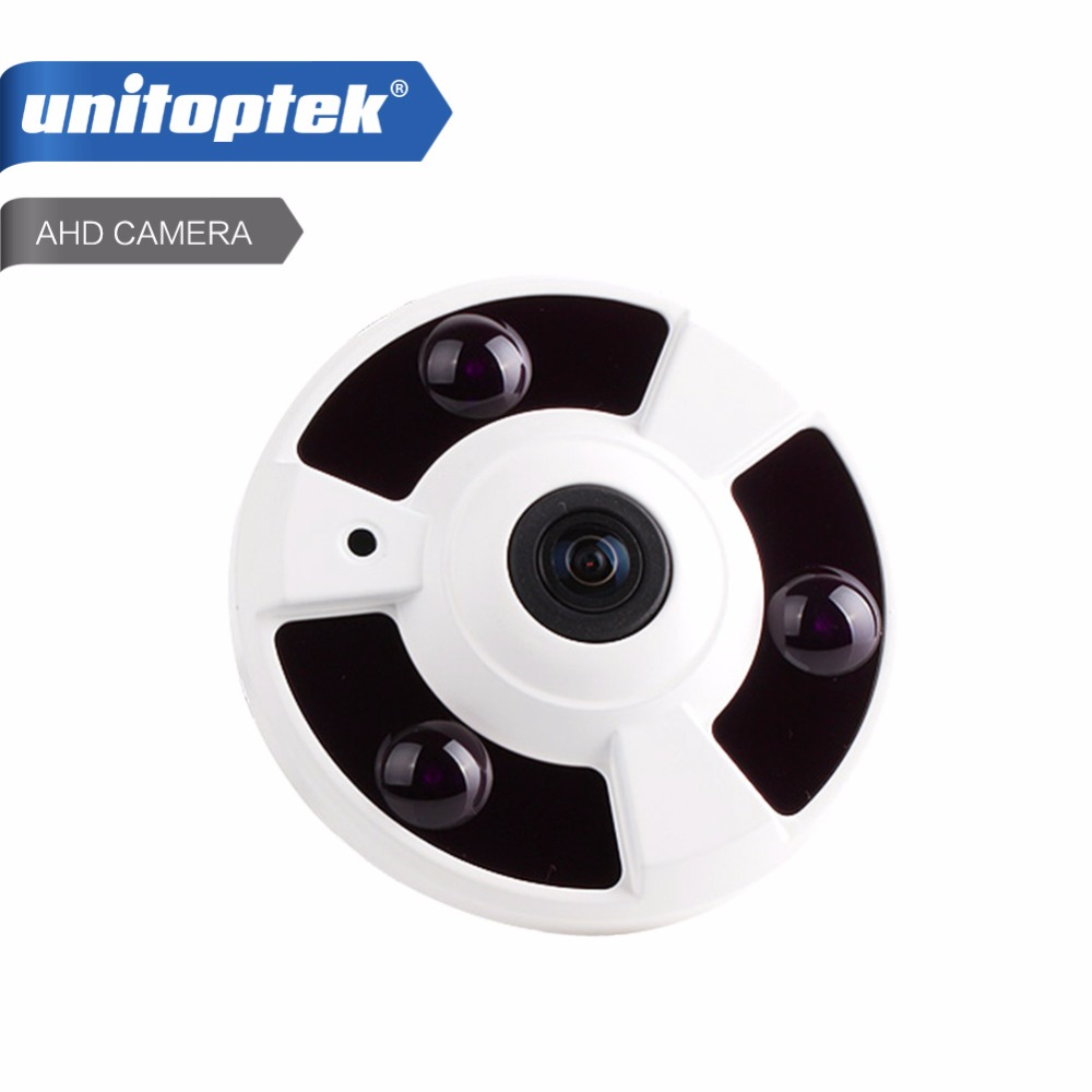 bilder für Panorama 360 Grad Ansicht CCTV AHD Kamera 1MP 2MP Analog HD Fisheye-objektiv Panorama 720 P 1080 P Sicherheit AHD Kamera IR 10 mt, Metall