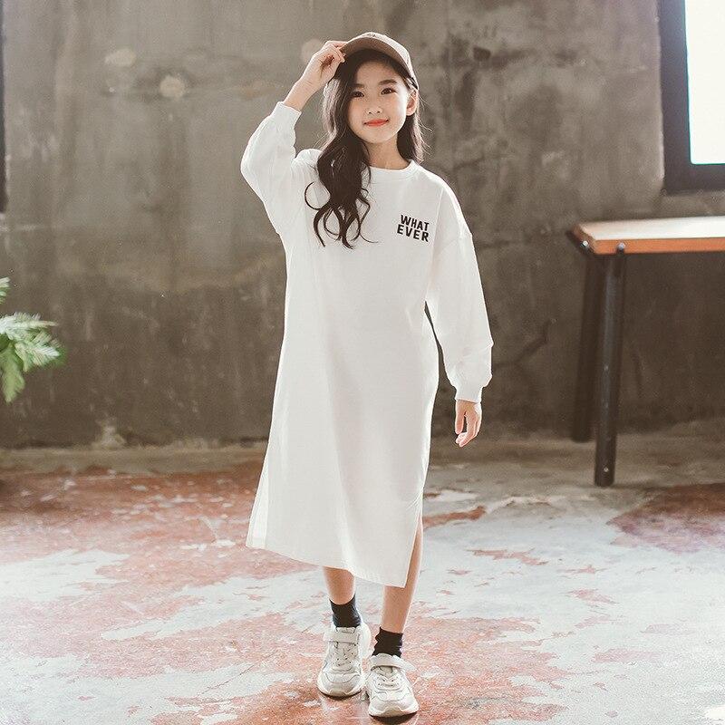 ZSIIBO famille correspondant robe filles Costume femme Long hoodies printemps automne mode maman fille vêtements enfants hauts WGTWY09