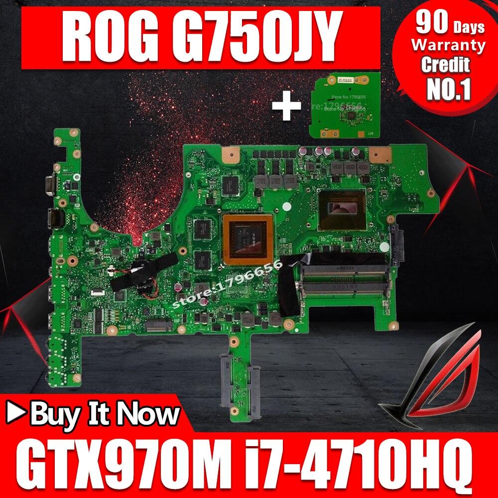 Отправить доска + G751JY GTX970M/3g/I7-4710HQ/4720HQ материнская плата для ноутбука ASUS ROG G751 G751J G751JY G751JT G751JS материнская плата для ноутбука