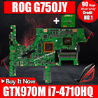 Send board+G751JY GTX970M/3G/I7-4710HQ/4720HQ Laptop Motherboard for ASUS ROG G751 G751J G751JY G751JT G751JS Notebook Mainboard