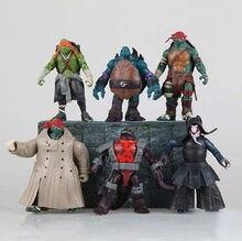 6pcs/lot NECA Teenage Mutant Ninja Turtles hasbroeINGlys Action Figure tmnt Model Toys Juguetes Tortugas