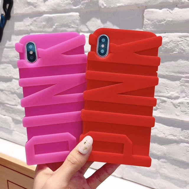 Necono 3d Pink Letter Soft Silicone Rubber Case For Apple Iphone 8