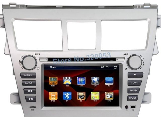 Russian/English Menu 6.2'' car dvd gps with rear view camera for toyota new Vois free map