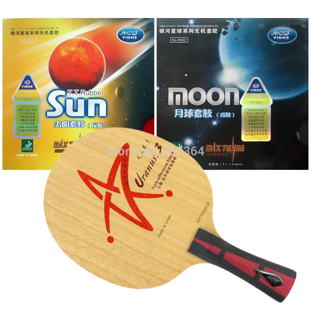 Galaxy YINHE Uranus.3 U-3 U3 U.3 Table Tennis Blade with Sun and Moon Rubber with SpongeLong shakehand  FL 100% original new for blackview a8 mobile phone lcd display screen assembly replacement free tools