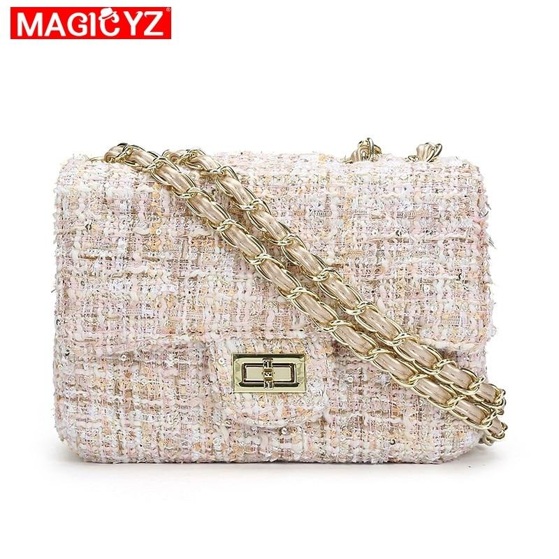 MAGICYZ γυναικείες τσάντες μάλλινες πολυτελείς τσάντες χειρός τσάντες γυναικών σχεδιαστής τσάντα Crossbody τσάντα ώμου γυναικών τσάντα συμπλέκτη τσάντα Sac A Main