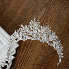 Crystal Jewelry Silver Plated Tiaras Crown Bridal Wedding Hair Jewelry Rhinestone Queen Pageant Prom Tiara Headband