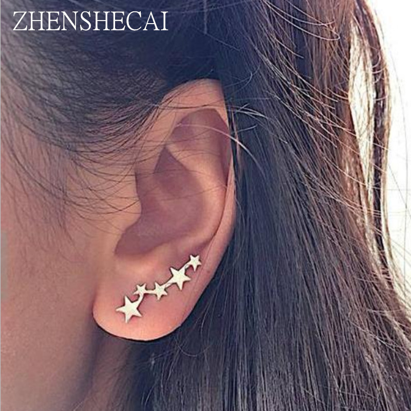 Star Earring Tiny Star Cute Gold Color Stud Earrings Simple Design Punk Birthday Gift For Women Girl Jewelry Accessories