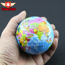 Купить с кэшбэком World Map Foam Earth Educational Toys Anti Stress Earth Ball Soft Sponge Squeeze Toys Autism Mood Relief Healthy Toys For kids