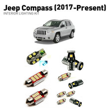 Led interior lights For Jeep compass 2017+  11pc Led Lights For Cars lighting kit automotive bulbs Canbus цена