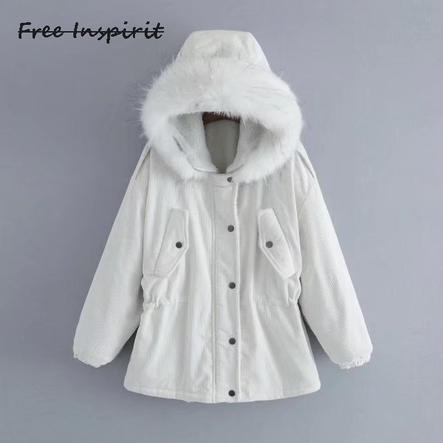 Free Inspirit 2017 New Fashion  Winter Women Coat Pop Embroidered Lamb Hair Cap Ladies' High Quality Hair Collar Coat camelion c 1001a
