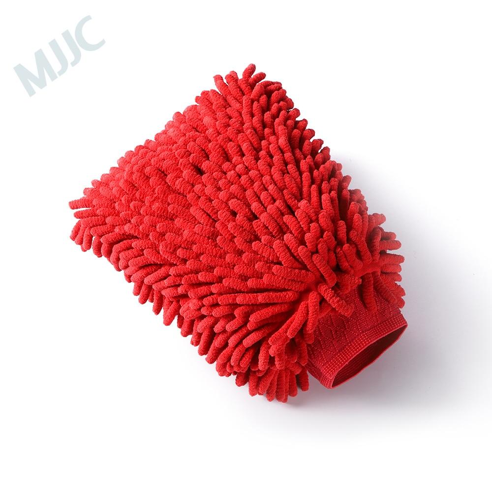 MJJC  Soft Car Cleaning Glove Standard Double Sides Chenille Microfiber Wash Mitt Valeting Mitt Chenille Car Body Window
