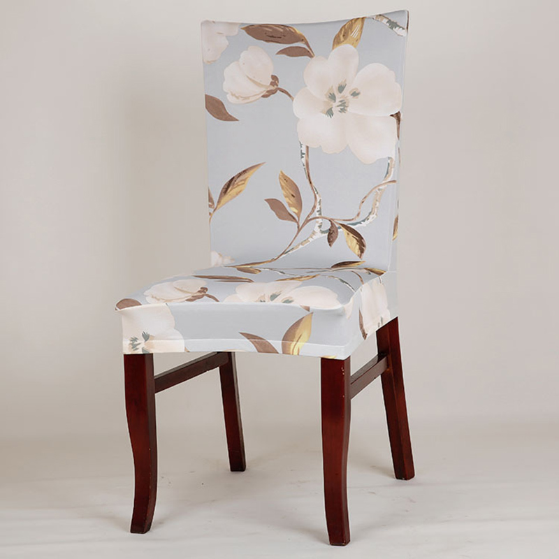 Fine Us 4 45 30 Off Modern Office Floral Printing Chair Cover Spandex Elastic Stretch Butterfly Beautiful Flowers Hotel Dining Seat Cover Textile In Bralicious Painted Fabric Chair Ideas Braliciousco