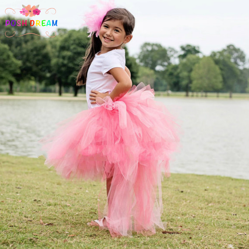 5e03c86be This is a skirt, not include tops and headband. POSH DREAM Easter and Pink  Unicorn Girls Toddler Skirts Magical High Low Tutu ...