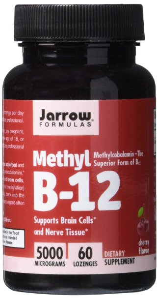 Jarrow Formulas Methylcobalamin (Methyl B12), Supports Brain Cells, 5000 mcg, 60 Lozenges fast kryptek fa style super abs airsoft tactical helmet ops core style high cut training helmet fast ballistic style helmet