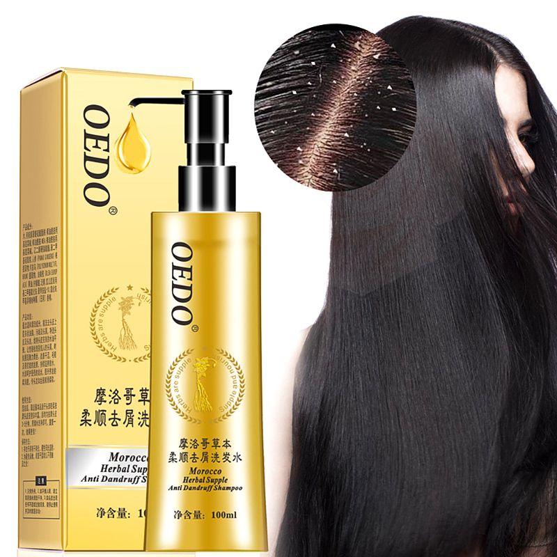 100ML Moroccan Herbal Scented Antidandruff Shampoo Improve Dryness Hair Nourishing Repair Damaged Hair Moisturizes Hair серум за растеж на мигли