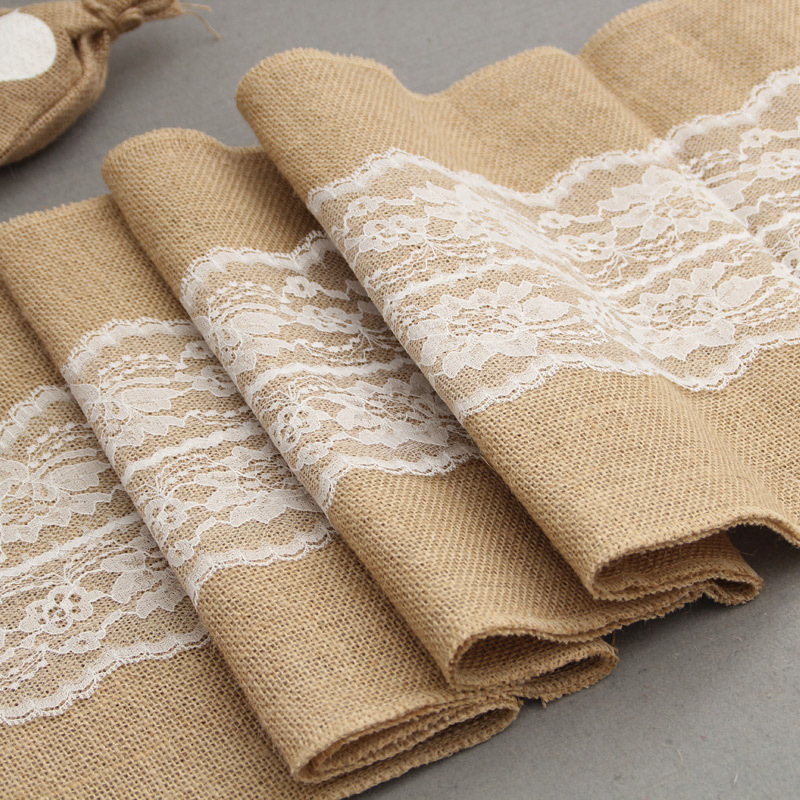 30 275cm natural burlap jute linen christmas table runners for wedding new year dining room