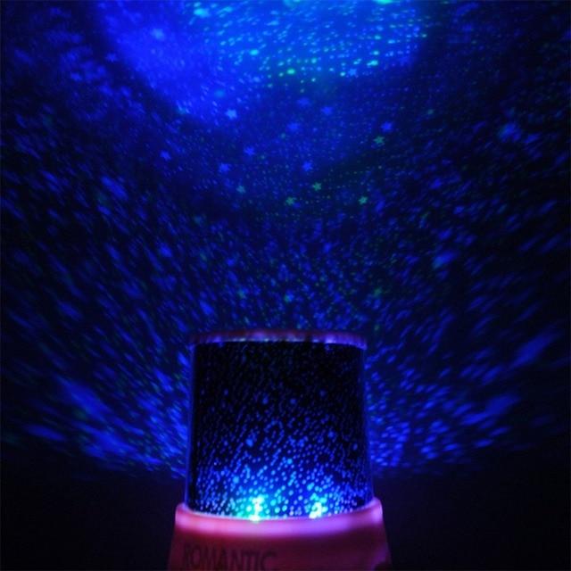 Magic 4 Led Sky Star Starry Projector Night Light Lamp Nursery Home Display Bedroom Toy