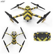 Autocollant de télécommande avec batterie pour la peau du Drone, autocollants du corps du drone, 3 M, autocollant de télécommande pour DJI, mavic, 2 pro, accessoires du Drone zoom