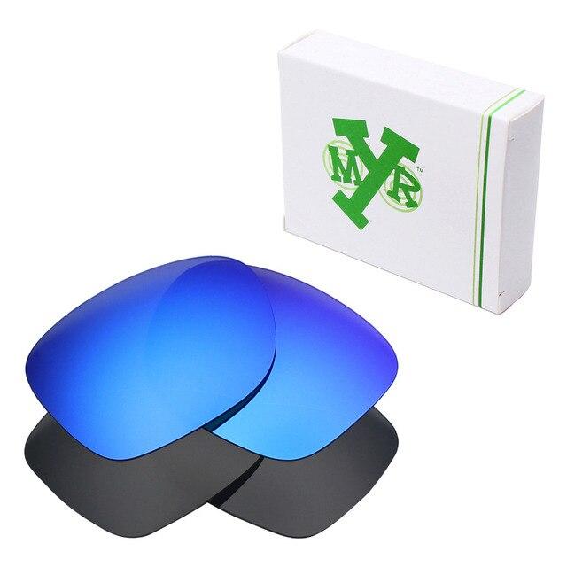 2 Pairs MRY ПОЛЯРИЗОВАННЫХ Сменные Линзы для Катализатора Oakley Солнцезащитные Очки Классический Черный и Голубой Лед