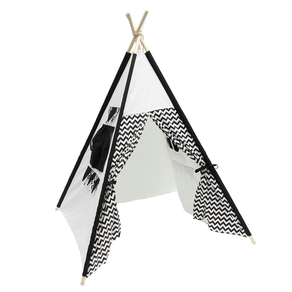 Grande toile de coton Tipi Original enfants Tipi avec tente de jeu indienne grise maison enfants en plein air intérieur Tipi Tee Pee tente