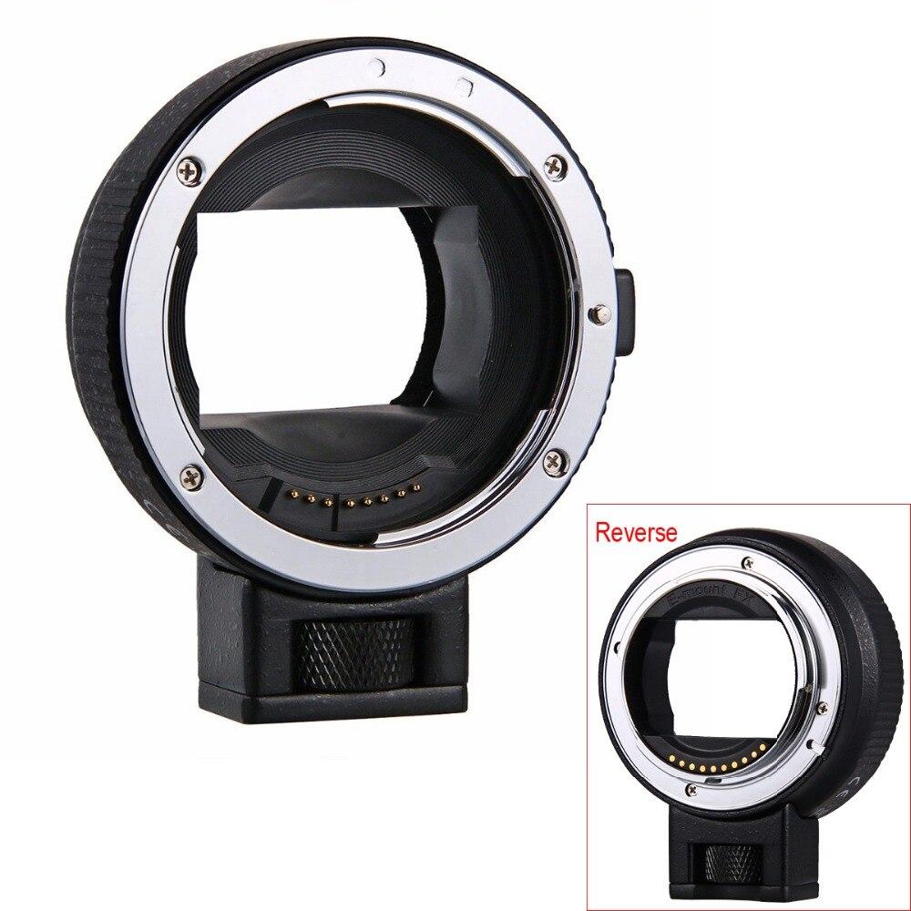 EF-NEX Adaptateur Auto Focus Lens pour Canon EOS EF EF-S Lens pour Sony NEX E Plein Cadre A7 A7II A7R a7SII A6000 A6300 A6500 NEX-7/6/5
