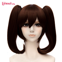 L Email Wig The Seven Deadly Sins Diane Cosplay Wigs Brown Double Ponytails Heat Resistant Synthetic