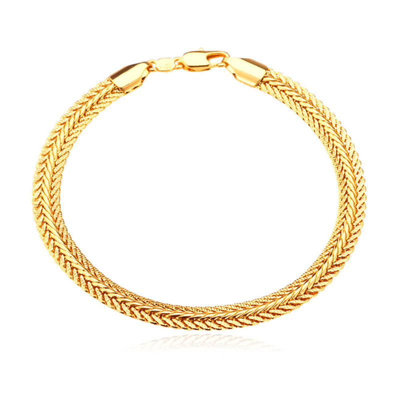 Collare Men Chain Bracelet Gold/Rose Gold/Black Gun Color Rope Bracelet & Bangle Wholesale Men Bracelet H550