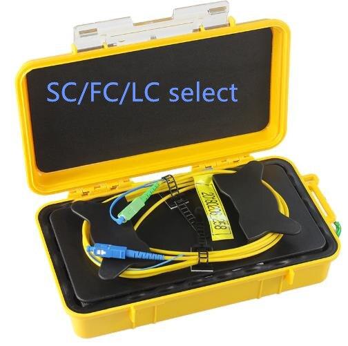 La Fiber d'élimination de Zone morte d'otdr de FirstFiber sonne la boîte de câble optique de lancement d'otdr de Fiber 1 km SC LC FC SM 1310/1550nm