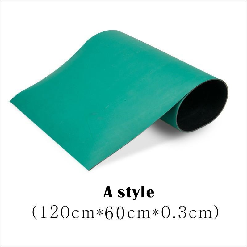 Antistatic mat Rubber pad green High temperature resistance Maintenance pad  Insulating material Laboratory Free freight