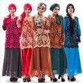 Nuevo Diseño de La India Pakistán Ropa Medio oriente Árabe Musulmán Largo Abaya túnica Árabe Vestido Jilbabs Mujeres Kurtas Más Tamaño MD A003