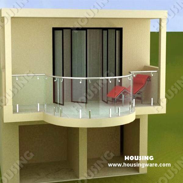 Propio diseño y la instalación simple barandilla de vidrio sin marco ...