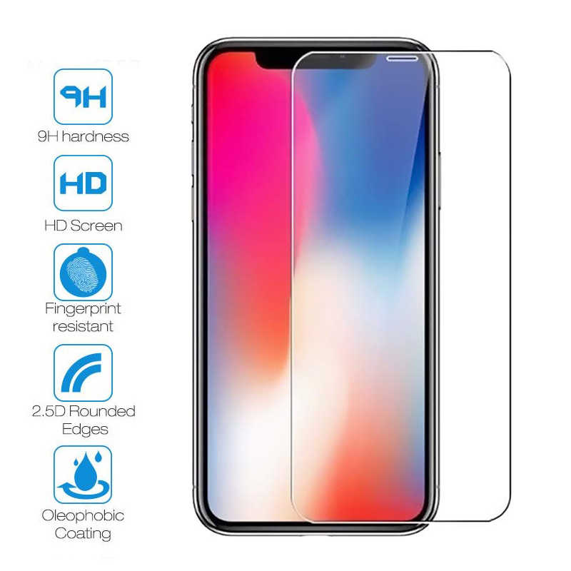 Tempered Glass For iPhone XR XS MAX 6 6s 7 8 Plus Screen Protective Film For iPhone 4 4s 5 5s SE X Glass Protector For iPhone XS