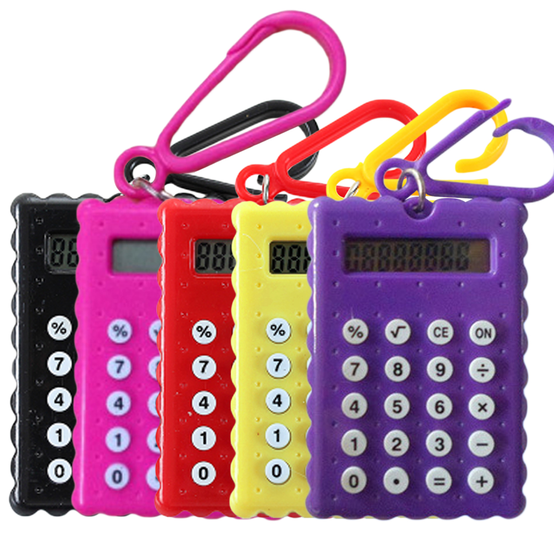 Noyokere Student Mini Electronic Calculator Candy Color Calculating Office Supplies Gift Super Small