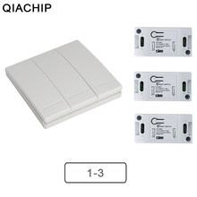 QIACHIP Wifi Wireless 433Mhz RF Relay Receiver Smart Home Module Lights Switch + Wall Remote Control Switch For Lamps Fans DIY(China)