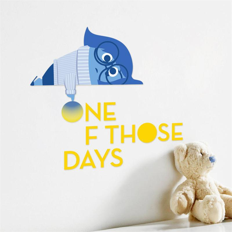 Popular Cartoon Movie Inside Out Sad Blue Kids Baby Wall Sticker